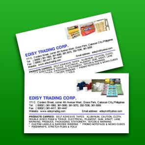 Edisy Trading Philippines - Digitally Printed Cards and Stickers